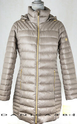 420a4b38d Michael Kors Packable Quilted Hooded Down Jacket Puffer Coat M Taupe  767336061210 | eBay