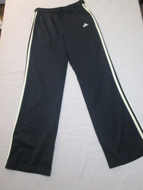 Adidas Black Track Pants Yellow 3 Stripes Womens Size Small 84c5b3845b7c