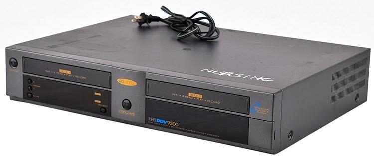 Go Video DDV-9485 Hi-Fi Dual Deck 4 Head VCR w//Duraheads