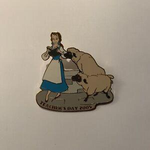Disney Auctions Belle Teacher's Day 2005 LE 100 Jumbo Pin Beauty Beast Fountain