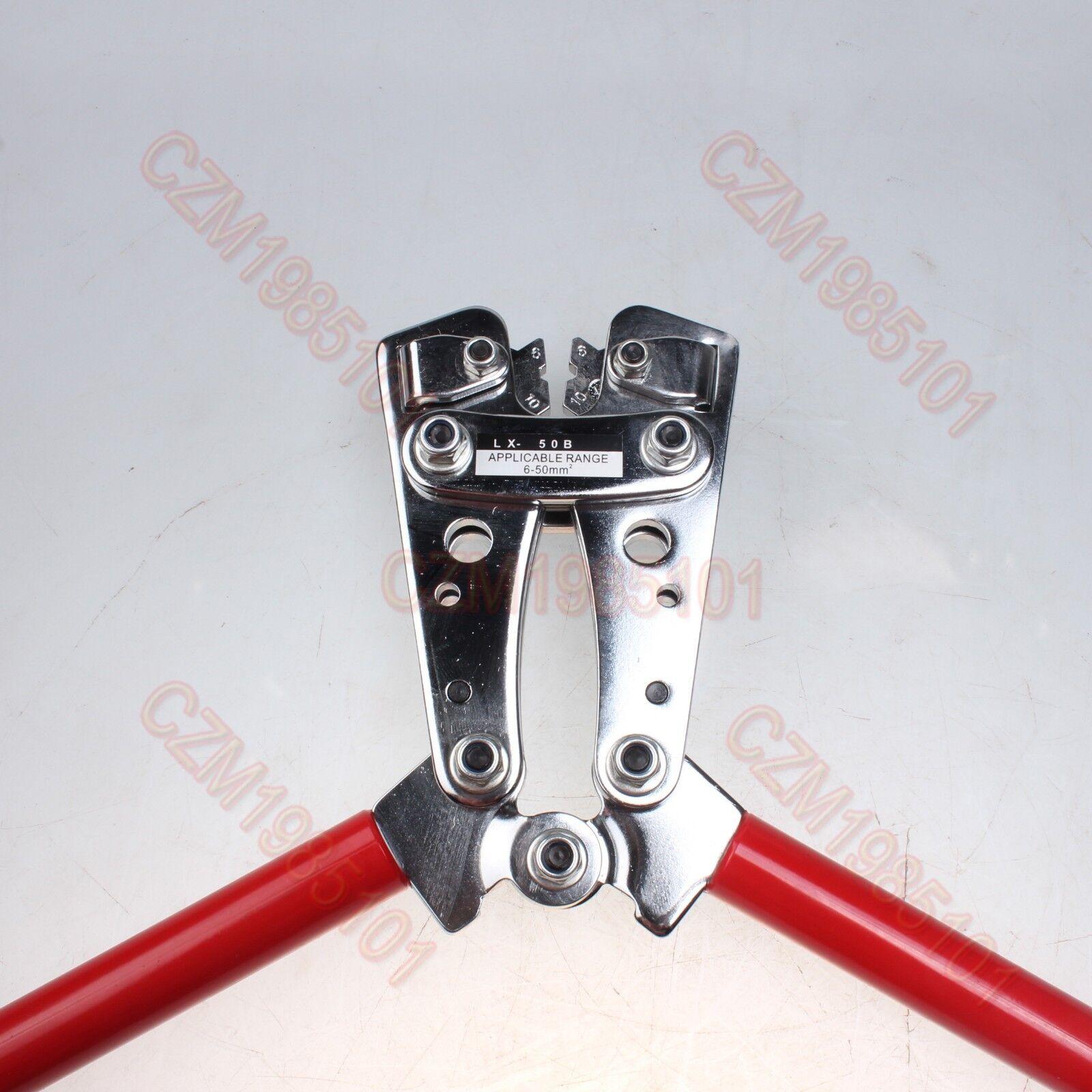 Heavy Duty Hex Crimping Tool Lx-50b Cable Lug Connectors Crimper ...