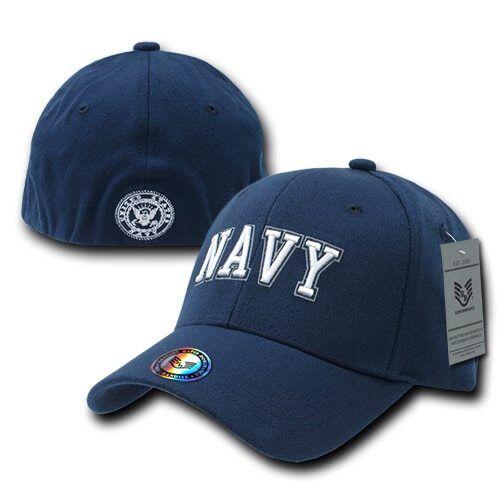 US NAVY United States Navy Military Operator Flex Fit Baseball Hat Cap