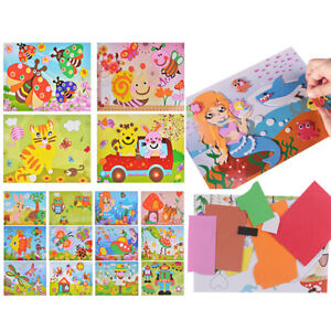 DIY-Kids-cartoon-animals-3D-EVA-foam-sticker-puzzle-toys-learning-toys-gifODCA