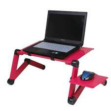 New Adjustable foldable laptop Notebook desk Table Stand Portable Bed Tray Red