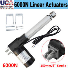 Linear Actuator Motor 12v 150mm 6 Stroke With Mounting Brackets 6000n Max Load Cl