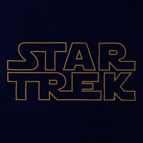 STAR TREK in STAR WARS logo Adult Hoodie Spock Yoda Yoda Darth Vader R2D2 Dr