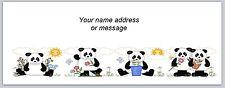 30 Personalized Return Address Labels Panda Bears Buy 3 get 1 free (bo 882)