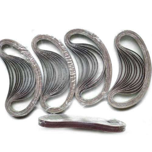 Schleifbänder 40-240 Körnung 13x457mm für Black /& Decker Power Feile Hardware