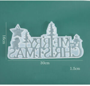 Merry Christmas Silicone Jewelry Casting Mold Resin Epoxy Mould Craft Decor Tool