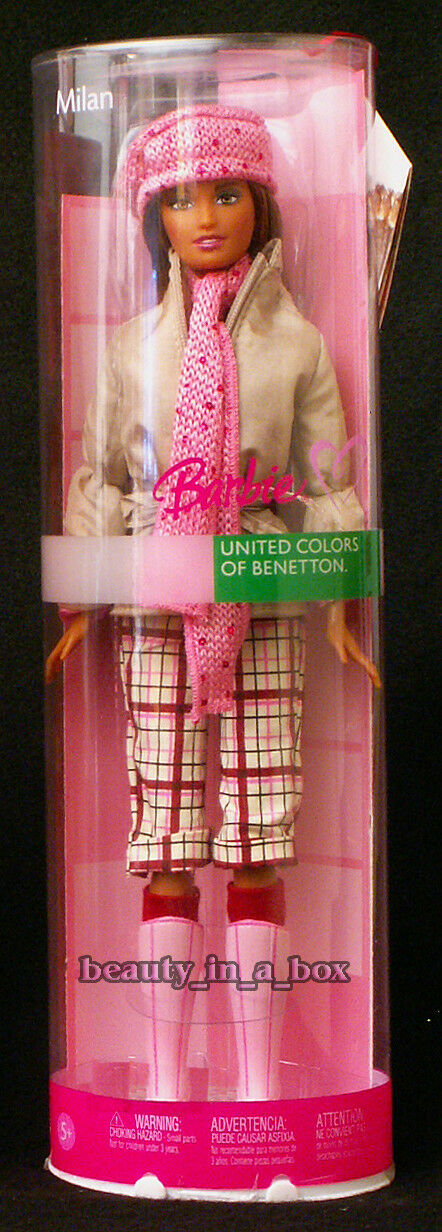 Muñeca Barbie Milan  United Colors of Benetton Moda Italia Italiana  raros
