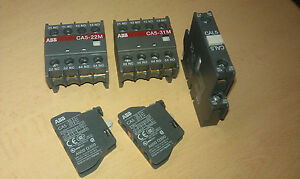 ABB Auxiliary contacts for A16-A95. CA5-01, CA5-10, CA5-22M, CA5-31M & CAL5-11