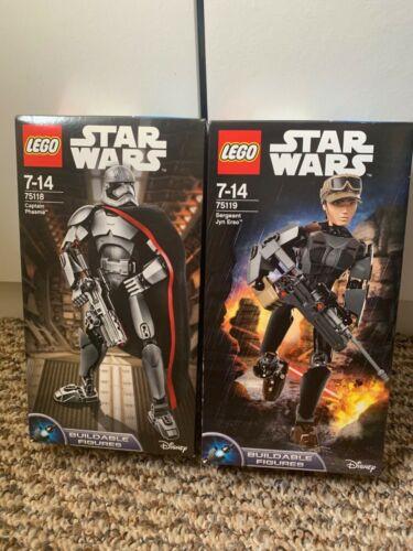 2xLEGO Star Wars Buildable Figure 75119 Sergeant Jyn Erso /& 75118 CAPTAIN PHASMA