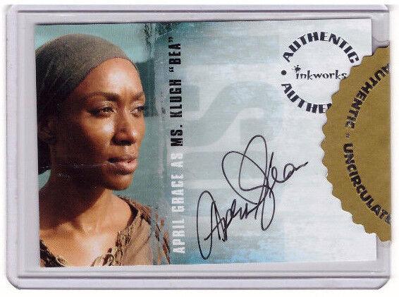 "LOST Season 3 A-27 sealed Premium Autograph Trading Card April Grace ""Bea"""