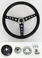 1964-1966 Pontiac Gto Black On Black Steering Wheel 14 1/2 Mounting Horn Kit