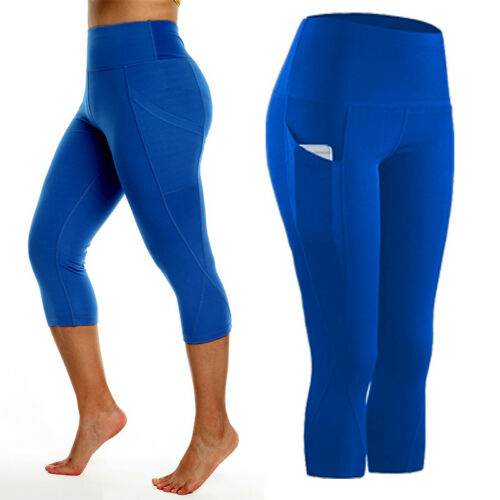 Womens Gym Workout Leggings Fitness Yoga Pants w//Pocket High Waist Dry-Fit X180