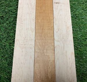 "3 Pieces Lot Birdseye Maple Thin Stock Lumber Boards Wood Crafts 1//4/""x1/""x16/"""