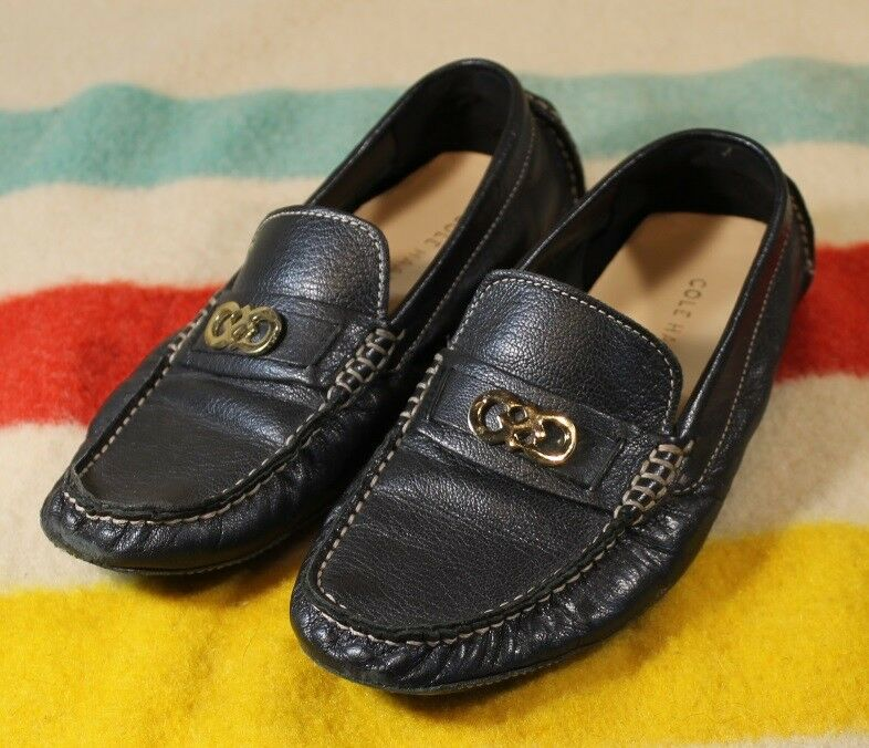 COLE HAAN Driving Moccasins Trillby Trillby Trillby SZ 6 VG Cond  165 Retail Soft Black Leather dd6264