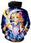 MenWomen-3D-Print-Anime-Sailor-Moon-Casual-Hoodie-Sweatshirt-Jacket-Pullover-Top miniature 14