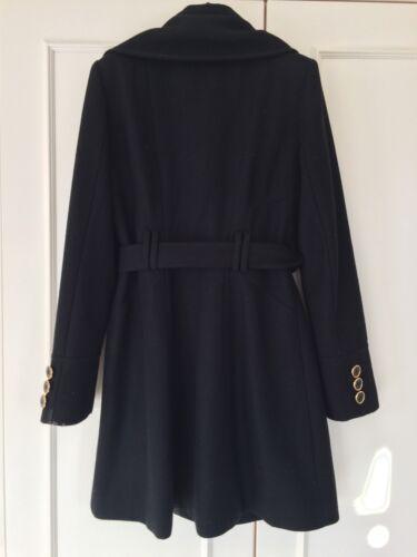 lunghezza pollici 10 taglia in 35 nera da foderata apertura lana Giacca bottone donna wvSfxq0