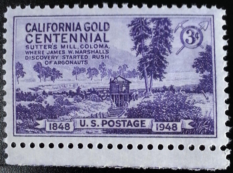 1948 3c California Gold Rush, 100th Anniversary Scott 9