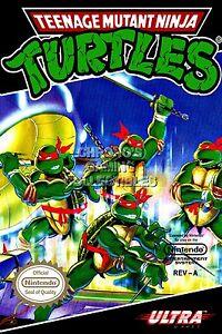 Teenage Mutant Ninja Turtles IV In Time BOX ART SNES TMNT05 RGC Huge Poster