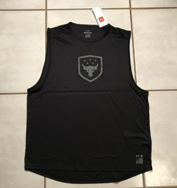6868e37e0711d UNDER ARMOUR PROJECT ROCK Brahma Bull Tank Top MADE IN USA 1328340 Men s  Large