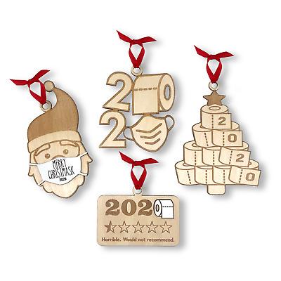 2020 Xmas Christmas Ornament Wooden Handmade Quarantine Set Toilet Paper Mask | eBay