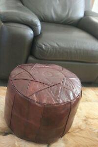Ottoman-genuine-leather-Morrocan-Footstool