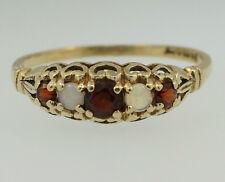 Vintage 9Carat Yellow Gold Garnet & Opal Eternity Ring (Size N 1/2) 5mm Wide