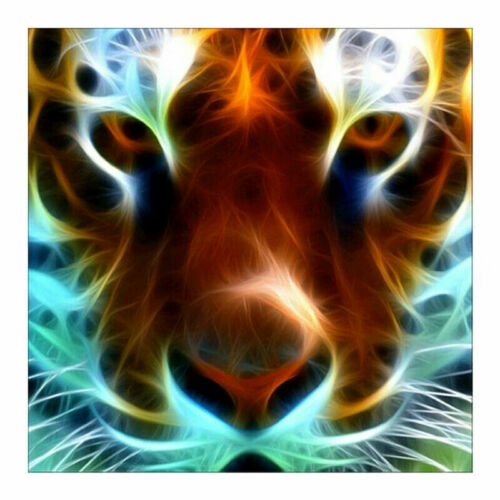 Full Drill Lion Tiger Animal 5D Diamond Painting DIY Cross Stitch Kit Decor Art