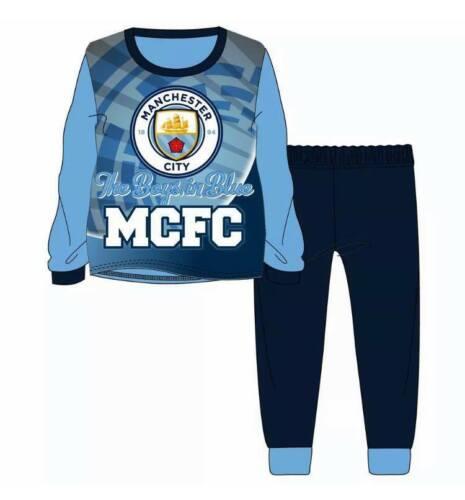 Kids Football Pyjamas Childrens Girls Boys Pyjama PJ Set Age 3-12 Years