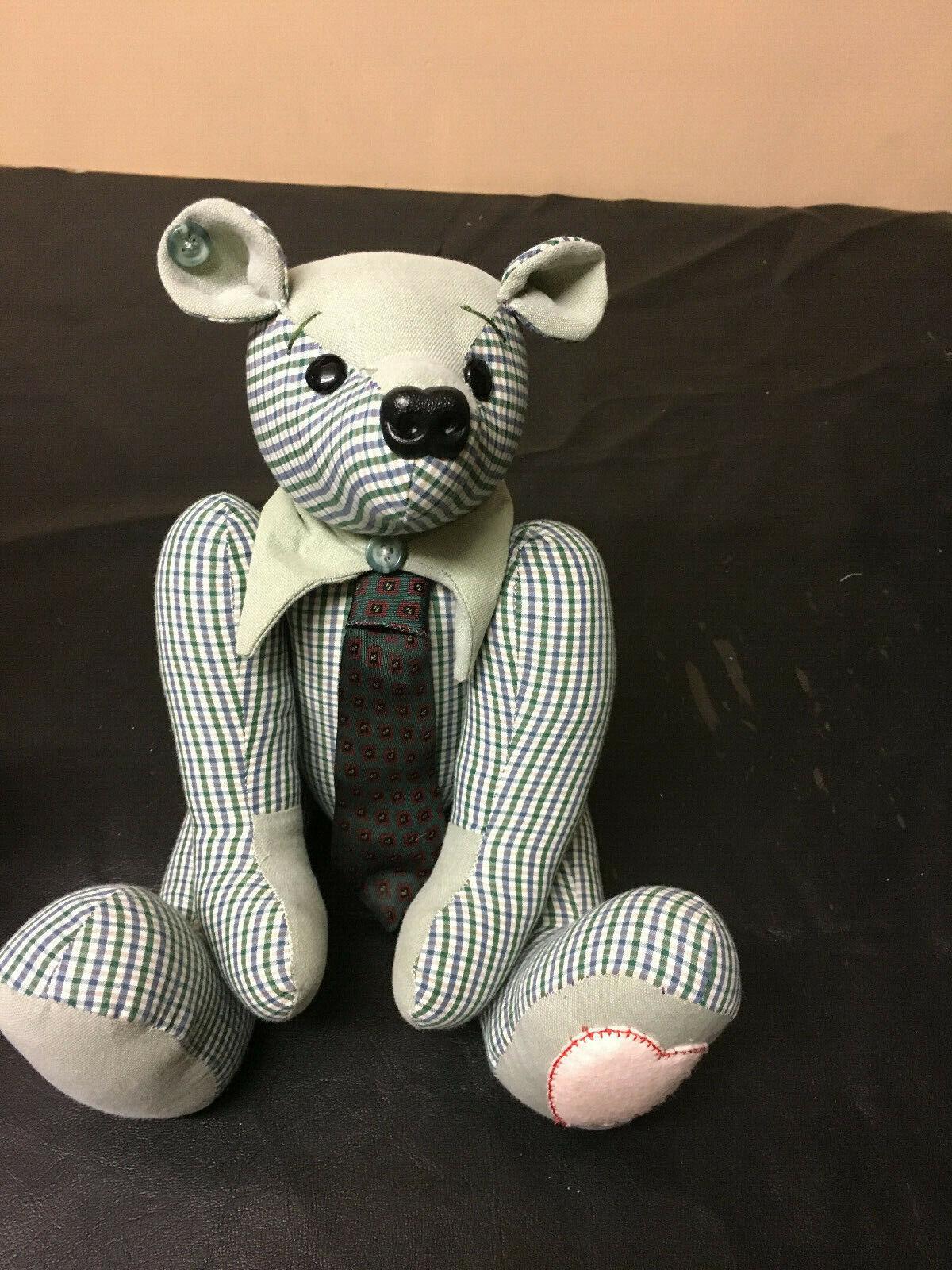 Handmade personalised OOAK memory memory memory traditional jointed memorial keepsake bear e6cb79