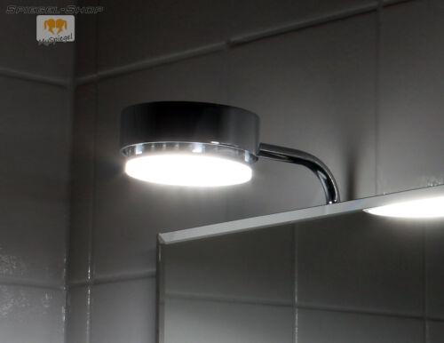 COTNAR LED LEUCHT BELEUCHTETER BAD SPIEGEL MIT STEILFACETTE 50x70CM UND 2 LAMPEN