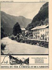 SIXT LE GIFFRE HOTEL DU FER A CHEVAL ET DE L ABBAYE RANNAUD PUBLICITE 1931 AD