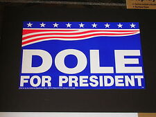 Puppet Man BOB DOLE for PRESIDENT Poster another Republican Party Wise Decision