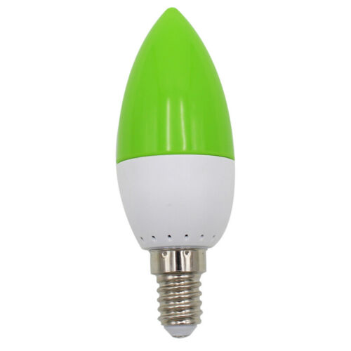 E14 LED color candle tip bulb color candle light green P8D9