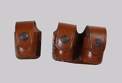KM037-357 Single Speedloader Case//Pouch with belt clip 357 Magnum Smith/&Wesson