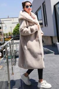 Manteaux à Parka longs femmes épaisses en fausse pour capuche fourrure wvpw1
