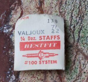 VALJOUX BALANCE STAFF  SEE LIST