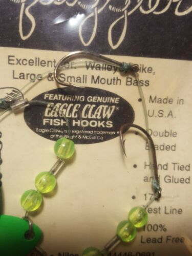 12 Crawler Worm Harness/'s 3 Hook USA Made Walleye Perch Crappie Rigs