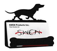 SWEN Products BLOOD HOUND Dog Black Metal Business Card Holder