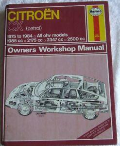 citroen cx petrol 1975 1984 haynes service workshop repair manual rh ebay co uk Haynes Repair Manual Online View Haynes Repair Manuals Online