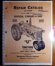 Minneapolis Moline U Utu Uts Utc Utn Tractor 334001 Repair Parts Manual R 1056e