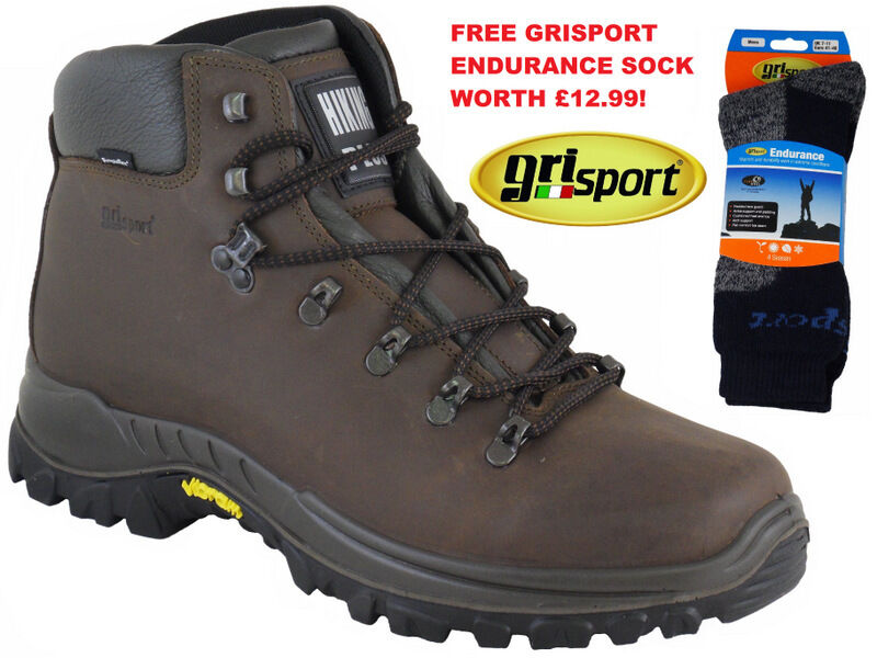 greyPORT AVENGER HIKING BOOTS  VIBRAM SOLE -  back packing walking boots