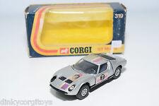 CORGI TOYS 319 LAMBORGHINI P400 GT MIURA RALLY METALLIC GREY EXCELLENT BOXED