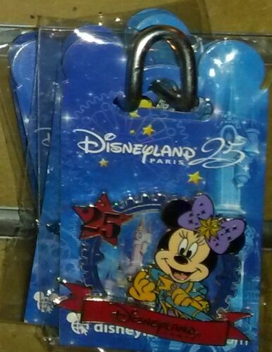New Minnie round Disney Land Paris 25th anniversary Dlrp Dlp March 2017 pin