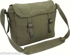 Retro Style Olive Green Army Canvas Webbing Haversack Satchel Messenger Bag
