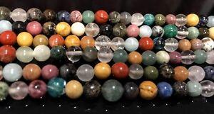 16-034-Strand-Semi-Precious-Multi-Stone-Agate-8mm-Round-Beads-45-48-PCS-UK-EBAYER
