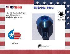 1 Blue Crown Ti titanium Bolt metric M5 x 10mm T25 torx nitride blue