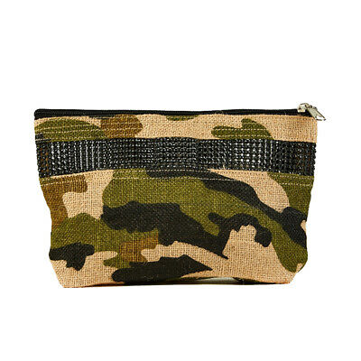 Women/'s Natural Jute Clutch Bag with Diamond Style Detail